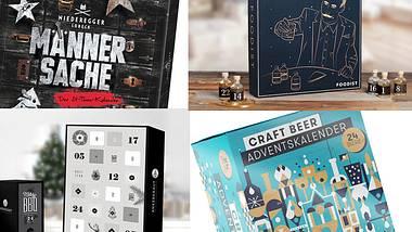 Über diese Adventskalender können Männer sich besonders freuen. - Foto: Niederegger/Foodist/Ankerkraut/Beyond Beer