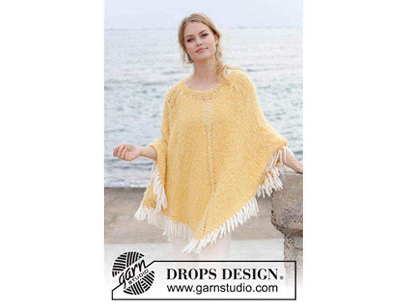 Mit seiner gelben Farbe ist der Poncho wie gemacht für den Sommer.
