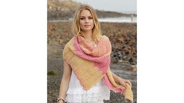 Das Muster lässt dieses Tuch aus der Menge herausstechen. - Foto: DROPS Design A/S