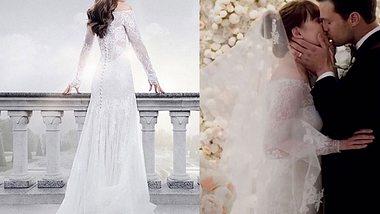 Das zauberhafte Hochzeitskleid von Anastasia in Fifty Shades of Grey - Befreite Lust hat die amerikanische Designerin Monique Lhuilier entworfen. - Foto: Universal Pictures