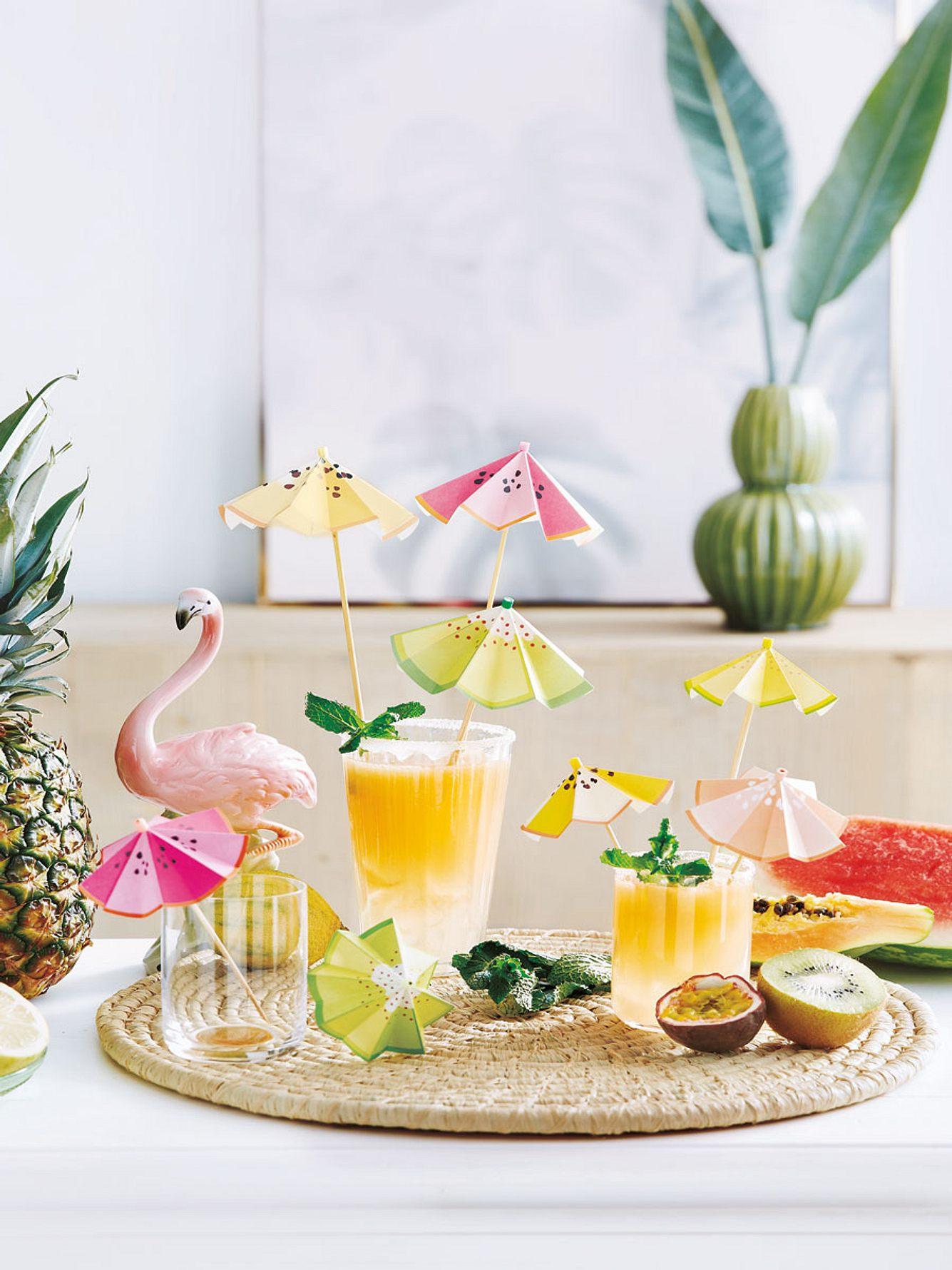 diy cocktailschirmchen