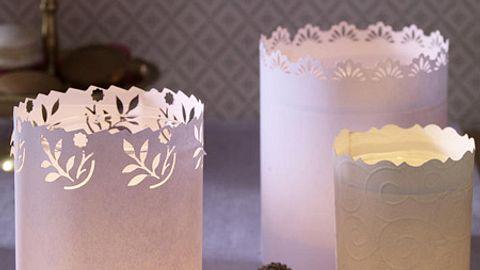 diy teelichthalter aus papier - Foto: deco&style