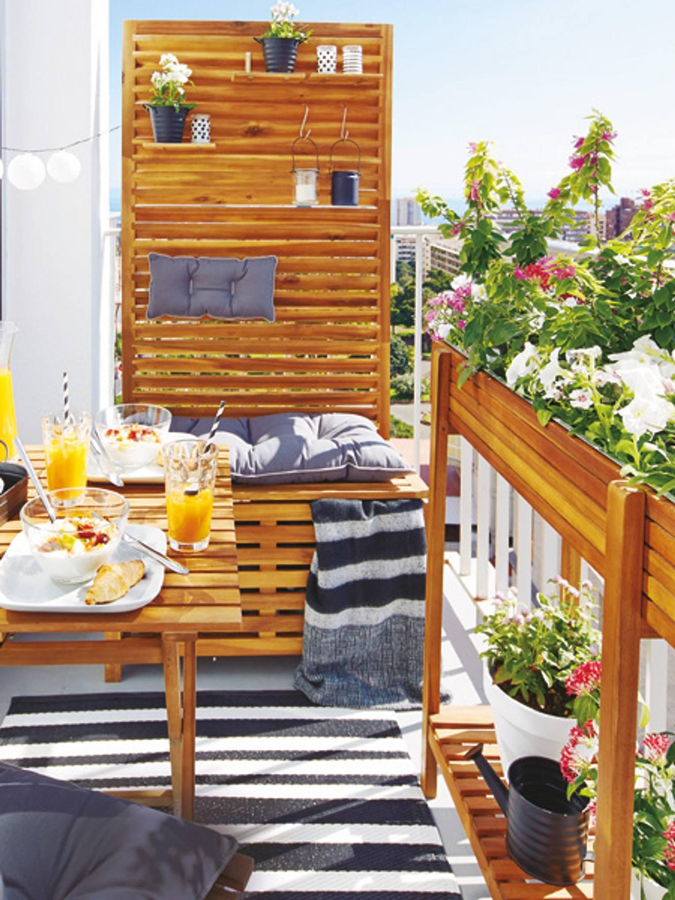 einrichtungsideen kleiner balkon