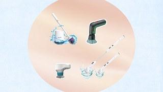 Elektrische Reinigungsbürste - Foto: Collage / bearbeitet durch Wunderweib.de; iStock: Anna Bliokh, iStock/ Tammyasian/ PR