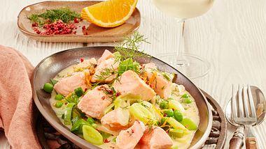 Fisch Rezepte können so einfach sein, so wie unser Lachsragout. - Foto: House of Food / Bauer Food Experts KG