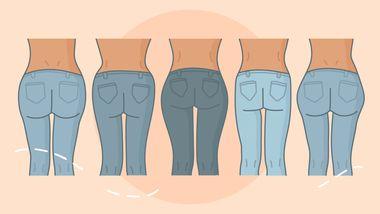 Für jede PO-Form die perfekte Jeans! - Foto: Redaktion Wunderweib