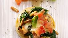 Gefüllte Champignons mit Spinat - vegetarisch und lecker. - Foto: Food & Foto, Hamburg