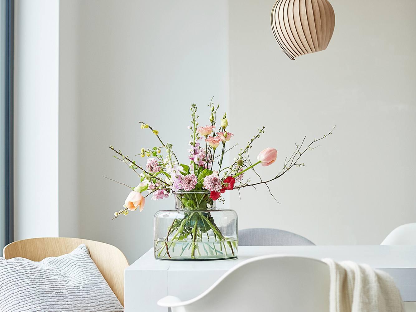 Glasvasen dekorieren