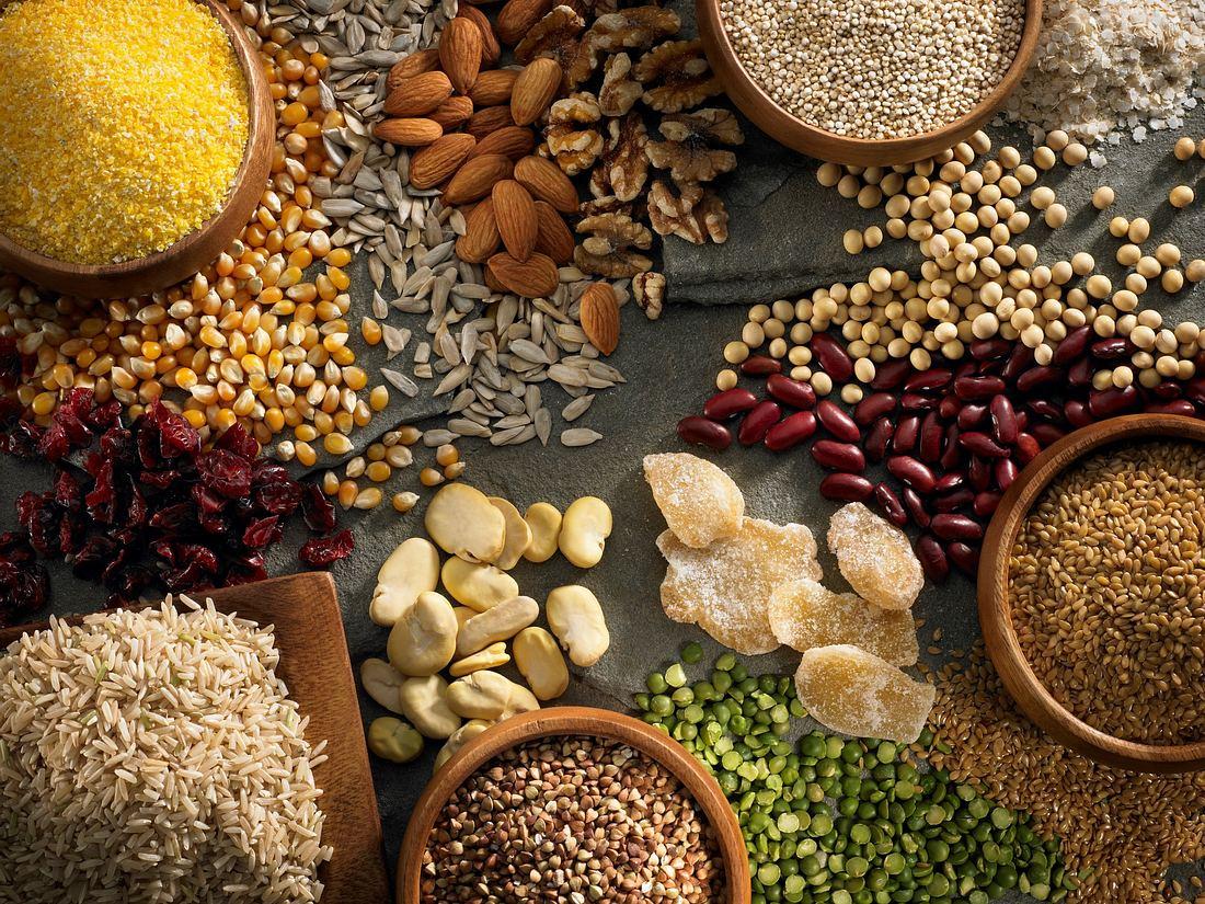 Zutaten für glutenfreie Ernährung