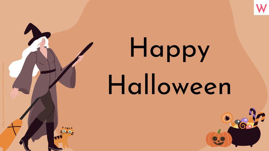 Halloween Sprüche mit Grusel- & Süßigkeiten-Garantie - Foto: Collage von Wunderweib und iStock: Larisa Vladimirova & imaginasty
