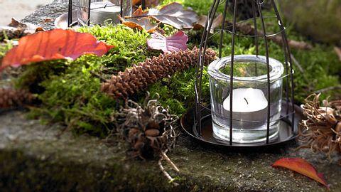herzdrahtgestelle mit windlicht - Foto: Wohnidee