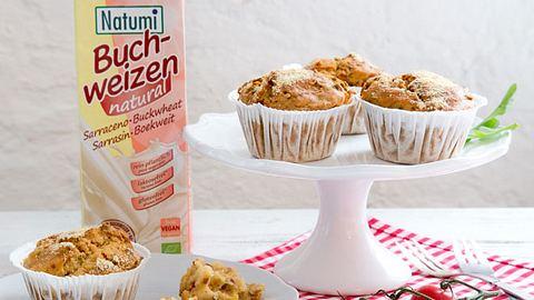 Herzhafte vegane Muffins ganz ohne Milch oder Eier - ein leckerer Party Snack! - Foto: Natumi GmbH