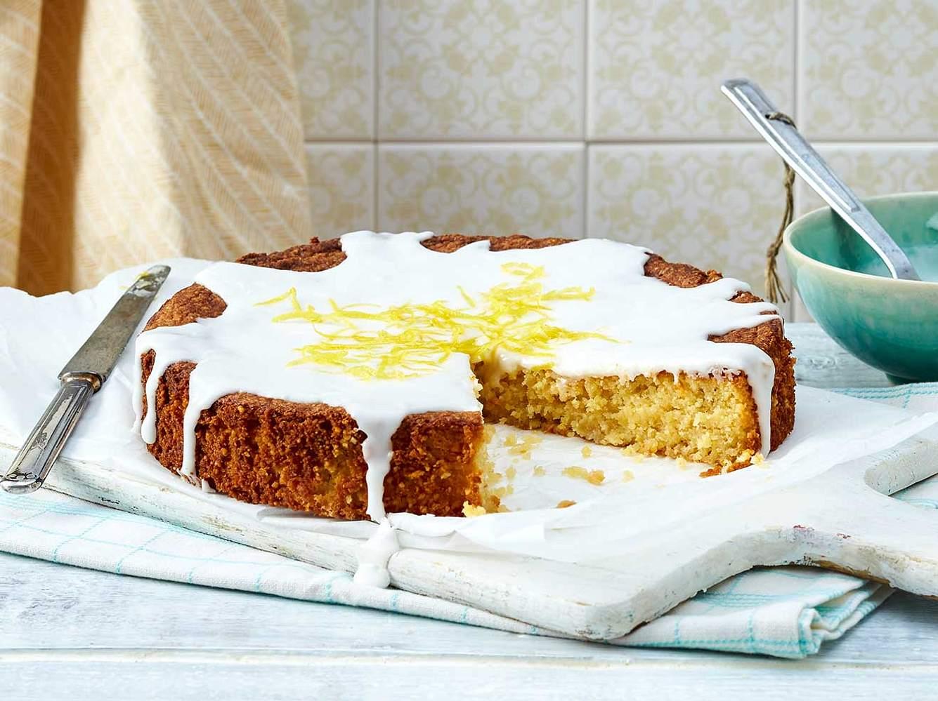 Zitronenkuchen: Rezept für glutenfreien Zitronenkuchen