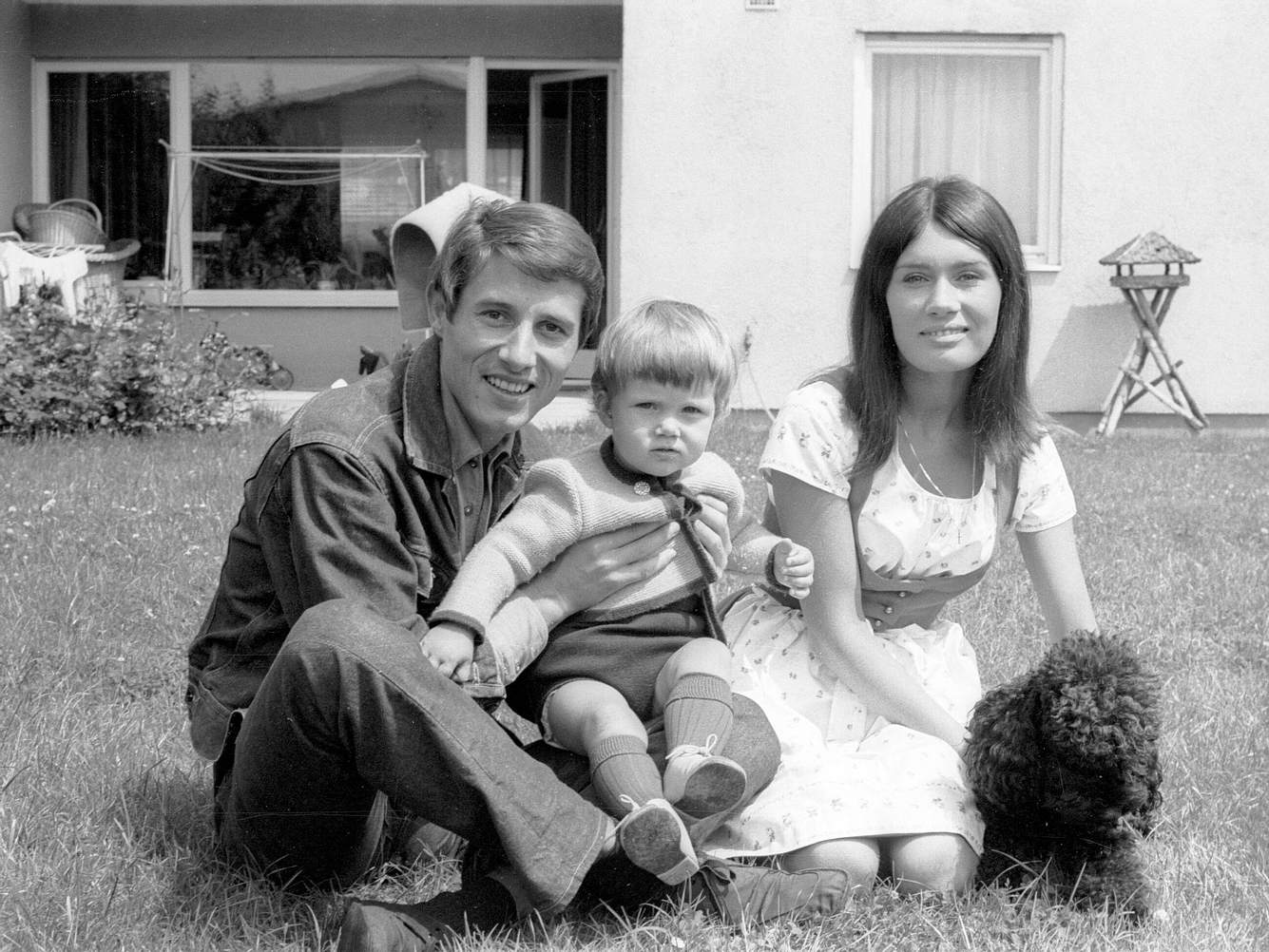 Udo Jürgens mit Ehefrau Panja und Sohn Johnny 1964.