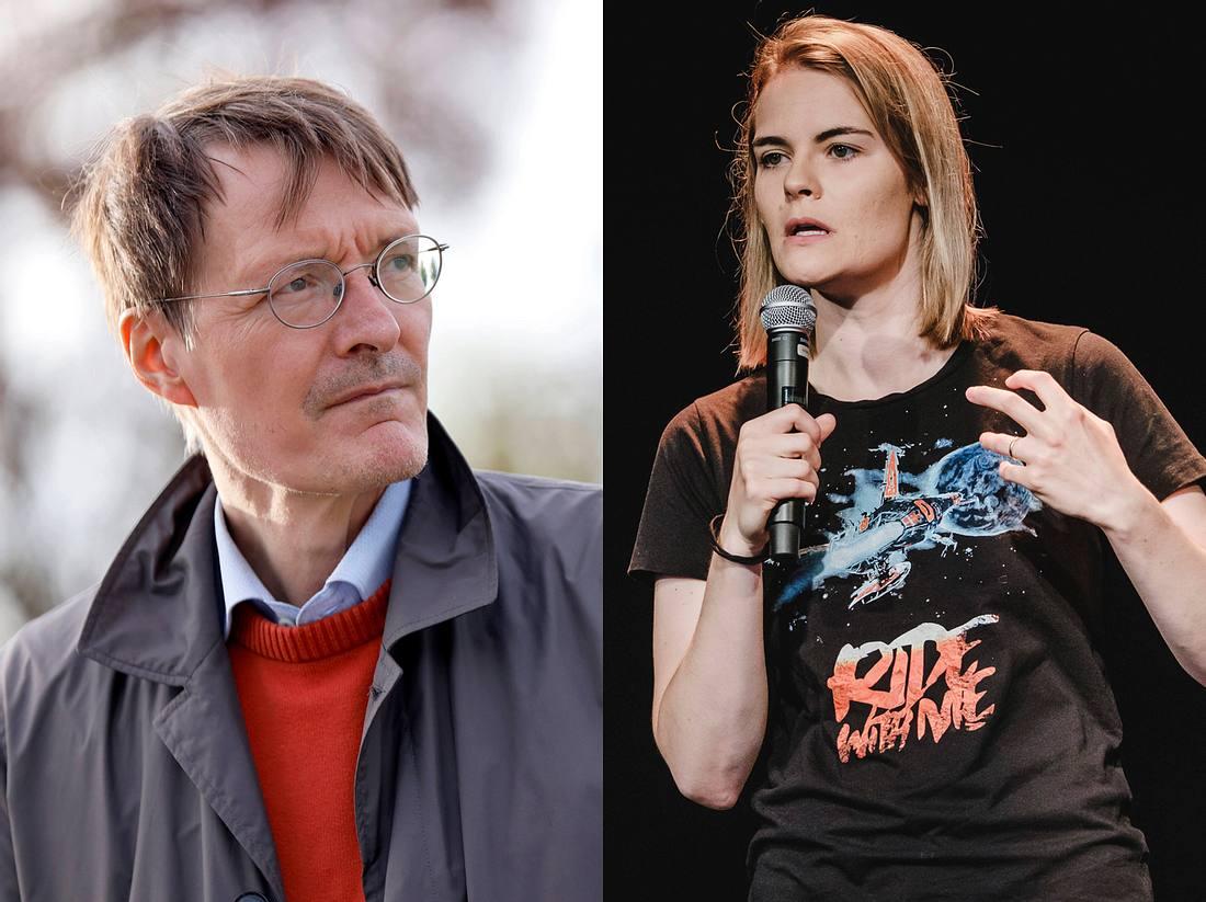 Karl Lauterbach und Hazel Brugger