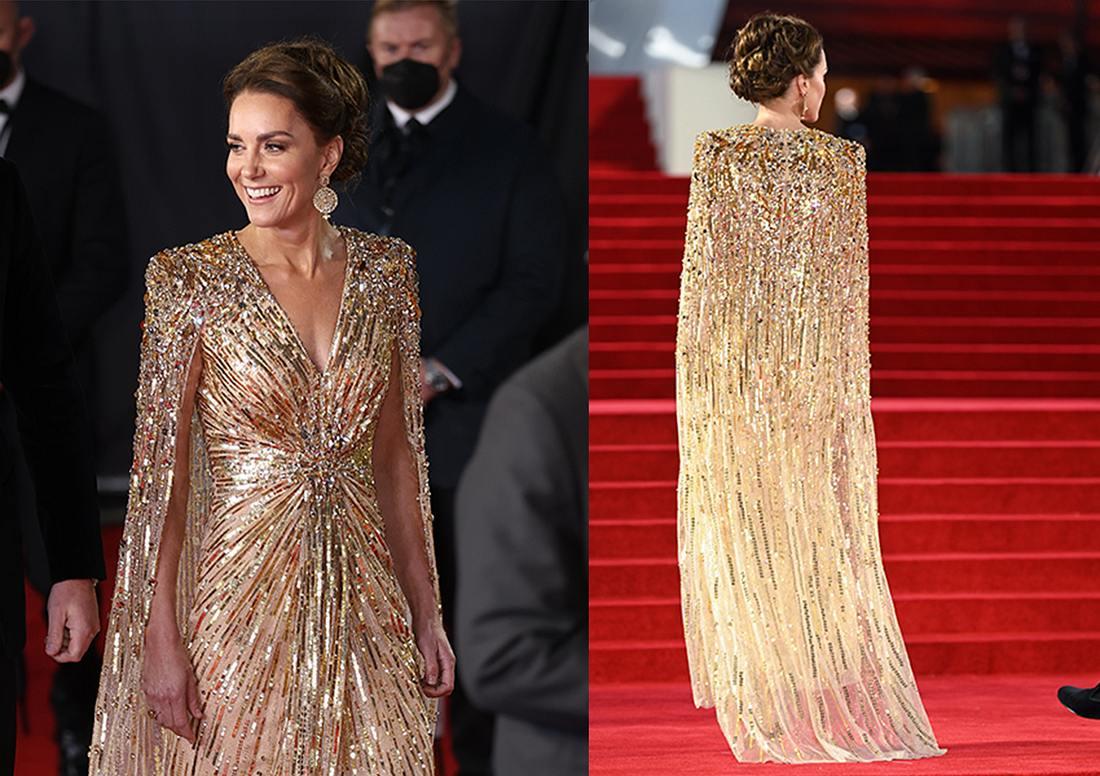 Kate Middleton goldenes Kleid