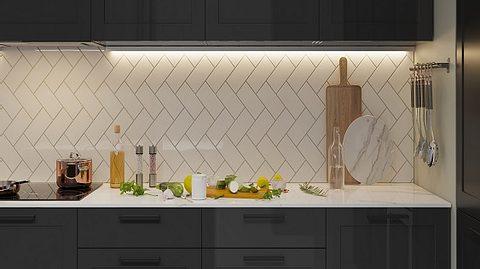 LED Strip an einer Küchenzeile. - Foto: iStock/ pozitivo