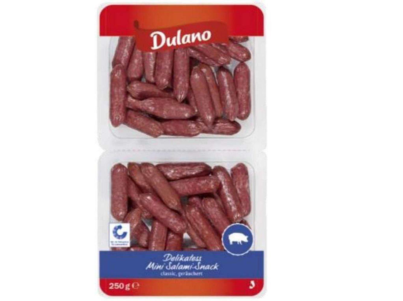 Lidl hat den Salami-Snack von Dulano aus dem Verkauf genommen.