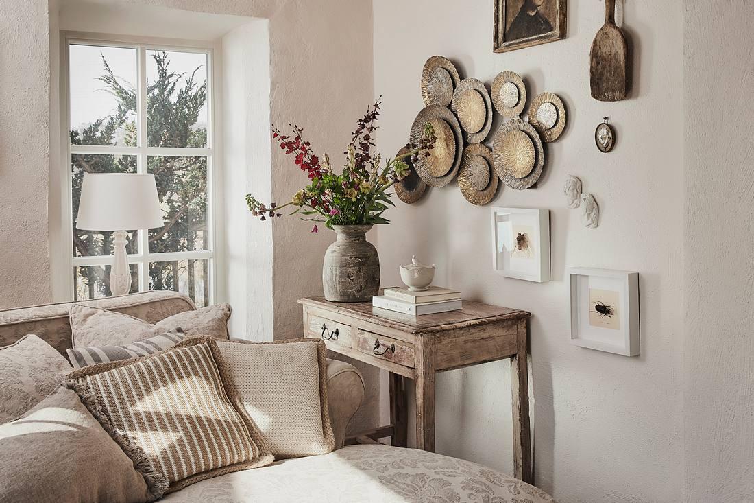 Mediterrane Möbel im Wohzimmer