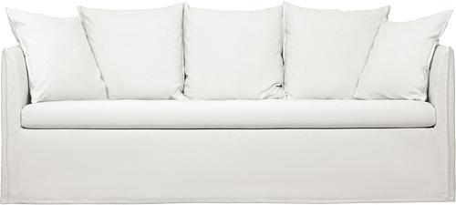 Hussen-Sofa in Cremeweiß