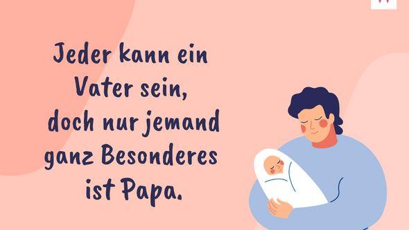 Papa Sprüche: 21 süße Sprüche für deinen Papa, mit denen du Danke sagen kannst - Foto: iStock/Ponomariova_Maria/Redaktion Wunderweib