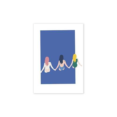 Girls Poster von Paper Collective