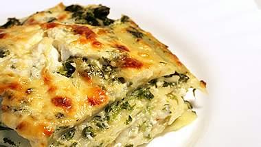 quark lasagne mit spinat