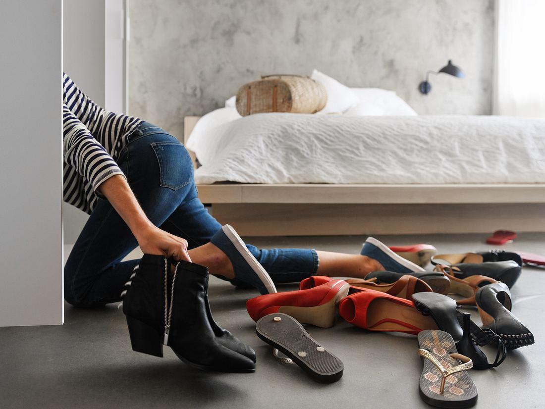 Schuhe aufbewahren im Schrank