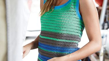 strickanleitung sportliches top - Foto: Coats PLC - www.schachenmayr.com