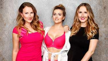 Sabrina Schönborn und Laura Gollers sind die Gründerinnen des Dessous-Labels SugarShape. Das Label ist bekannt für eine besonders gute Passform von BHs für große Brüste. - Foto: SugarShape