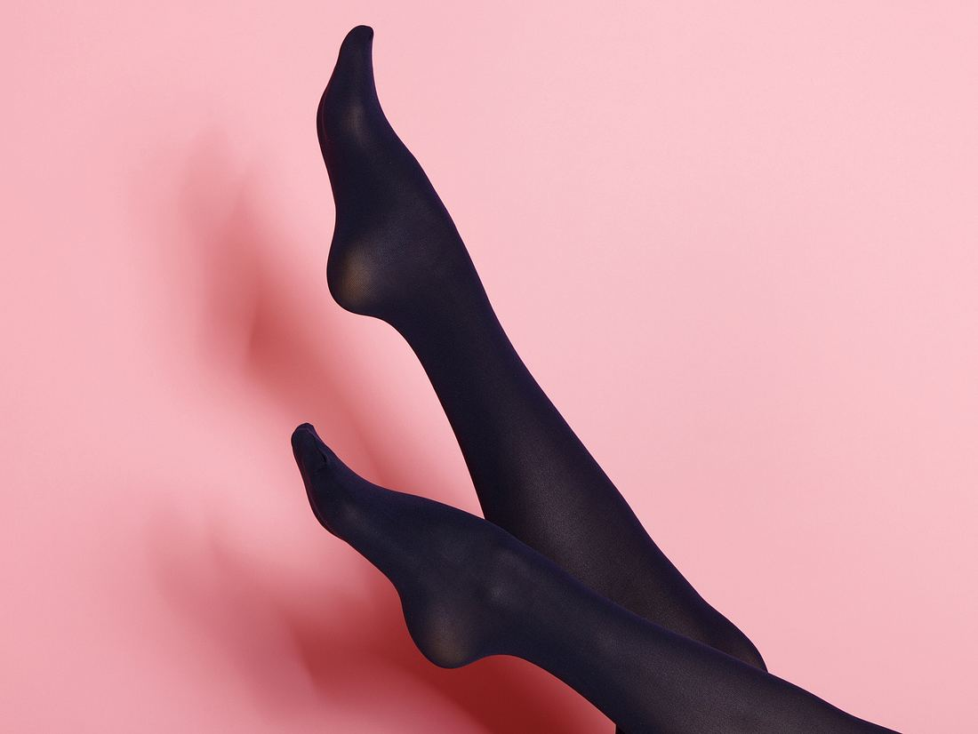 Schwarze Thermostrumpfhose