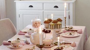 tischdeko advent rosa - Foto: deco&style