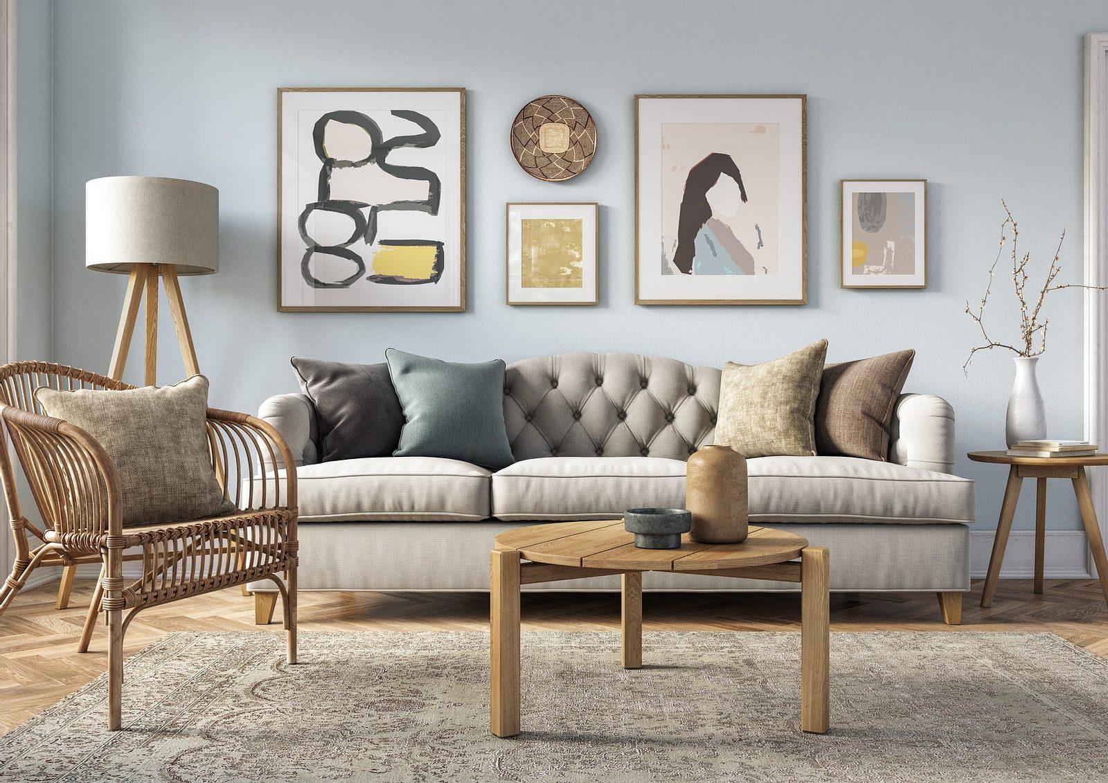 Wunderbare Wandgestaltung im Wohnzimmer Unsere Tipps   Wunderweib