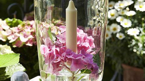 windlicht hortensien - Foto: deco&style