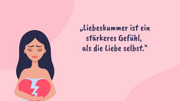 Liebeskummer: Sprüche und Zitate gegen Herzschmerz - Foto: iStock/Anna Bezrukova/Redaktion Wunderweib