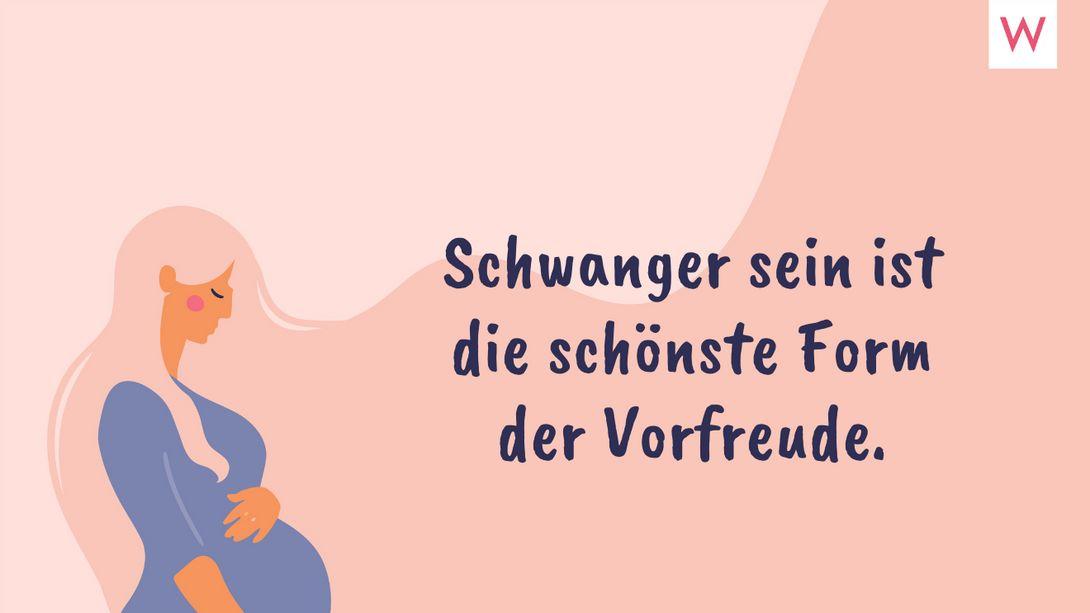 Die schönsten Sprüche zur Schwangerschaft für werdende Mütter - Foto: iStock/Tatyana Antusenok/Redaktion Wunderweib