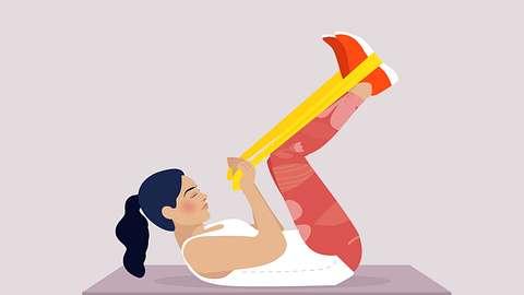 Effektive Theraband-Übungen für den ganzen Körper. - Foto: Redaktion Wunderweib
